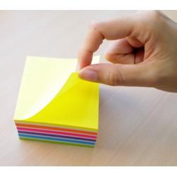 Hopax samolepící kostka, rozměr 76x76 mm, mix neonových a pastelových barev, 400 lístků