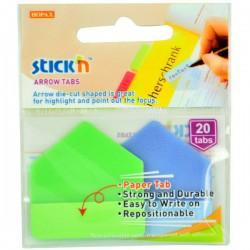Hopax, Samolepící záložky plastové- šipky extra pevné 38x38 mm, žlutá a červená 2x10 lístků
