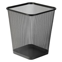 Drátěný program, koš na odpadky černý, čtverec