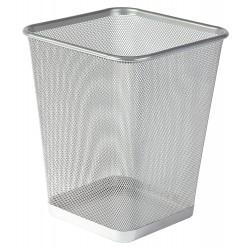 Drátěný program, koš na odpadky stříbrný, čtverec