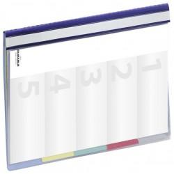 Durable 2565, Závěsné desky do kartoték plastové PP  s průhlednou přední stranou