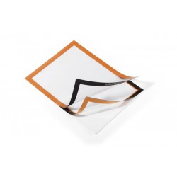 Durable 4872, samolepící rámeček DURAFRAME A4 oranžový 2 ks