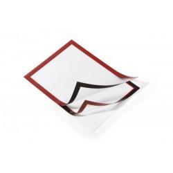 Durable 4872, samolepící rámeček DURAFRAME A4 červený 2 ks