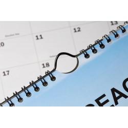 Háčky RENZ pro kalendáře, dělka 70 mm stříbrné , 100 ks