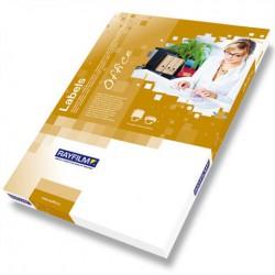 Rayfilm R0119.1123C bílé lesklé papírové laser etikety 210x297 mm A4, 20 listů