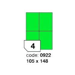 Rayfilm R0120.0922A  zelené samolepící etikety 105x148 mm A4, 100 listů