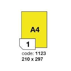 Rayfilm R0121.1123A žluté samolepící etikety 210x297 mm A4, 100 listů