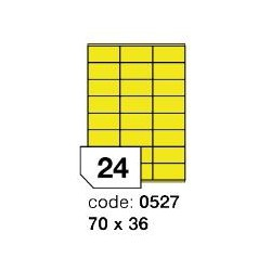 Rayfilm R0121.0527A žluté samolepící etikety 70x36 mm A4, 100 listů