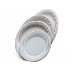Papírový talíř mělký, průměr 15 cm, balení 100 ks