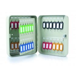 DONAU schránka na 20 klíčů, 160 x 200 x 80 mm, kov, šedá
