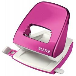 Celokovová stolní děrovačka Leitz NeXXt WOW 5008, metalická růžová