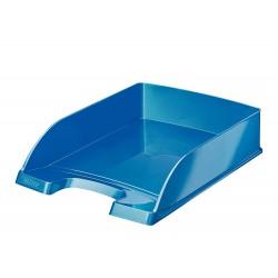 Odkladač Leitz WOW Plus, metalická modrá