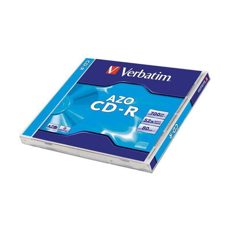 Verbatim DataLife Plus Disk CD-R 52x, 700MB classic jewel box, 10ks v bal.