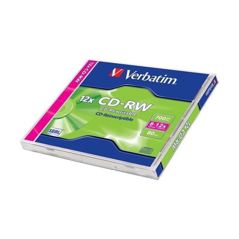 Verbatim Disk CD-RW 12x, 700MB classic jewel box, 1ks