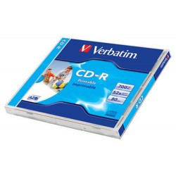 Verbatim DataLife Plus Disk CD-R 52x, 700MB potiskovatelný, wide printable jewel box, 10ks v bal.