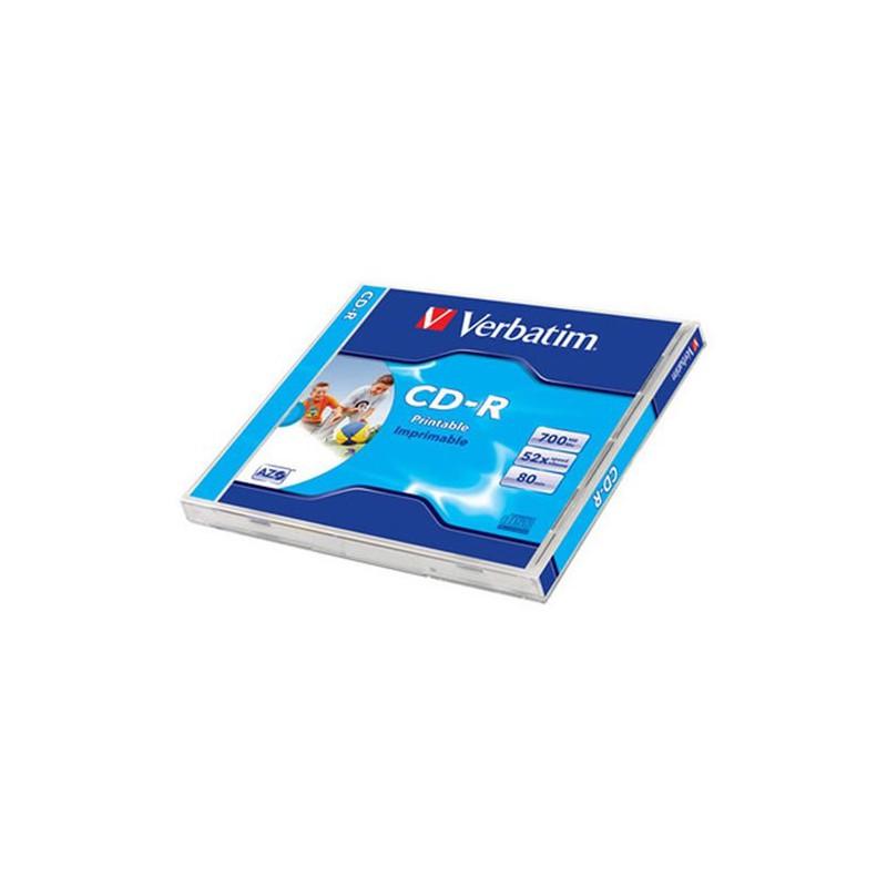 Verbatim DataLife Plus Disk CD-R 52x, 700MB potiskovatelný, wide printable jewel box, 10ks v bal.