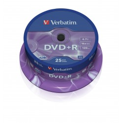 Verbatim DataLife Plus Disk DVD+R 16x, 4.7GB, spindl 25ks