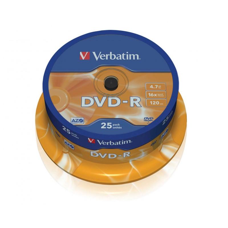 Verbatim DataLife Plus Disk DVD-R 16x, 4.7GB, spindl 25ks