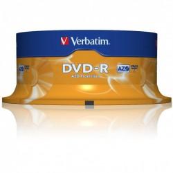 Verbatim Disk DVD-R 16x, 4.7GB, spindl 25ks