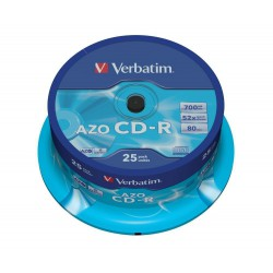 Verbatim DataLife Plus Disk CD-R 52x, 700MB Crystal Azo, spindl 25ks