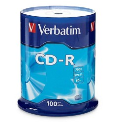 Verbatim Disk DVD-R 16x, 4.7GB, spindl 100ks