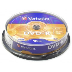 Verbatim DataLife Plus Disk DVD-R 16x, 4.7GB, spindl 10ks