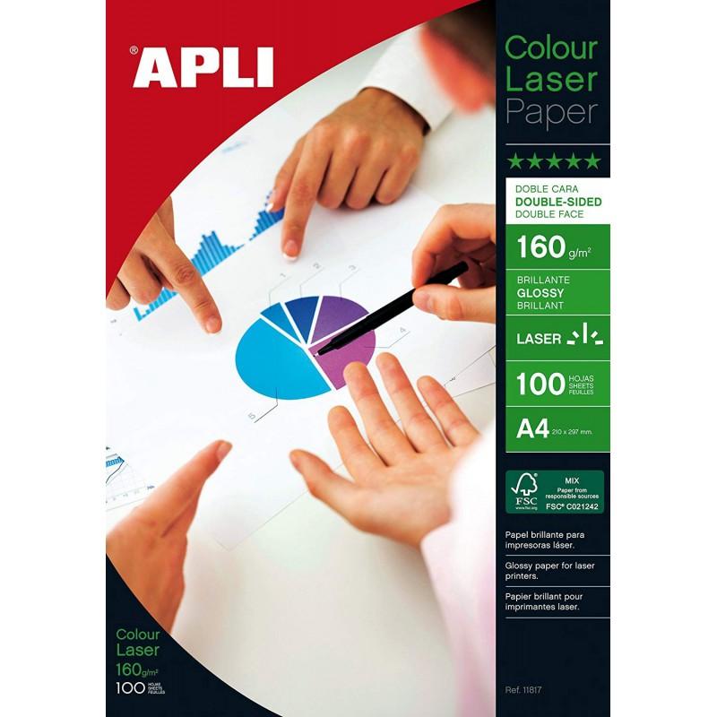 APLI foto papír pro inkoustové tiskárny lesklý A4, 140g, 100 listů
