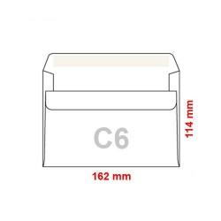 Poštovní obálka C6 samolepící, 50 ks