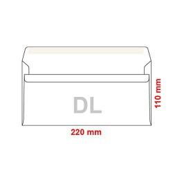 Poštovní obálka DL podlouhlá bez okénka samolepící, 50ks