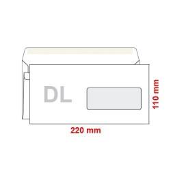 Poštovní obálka DL s okénkem samolepící, 1000 ks