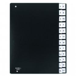 Třídící kniha černá, abecední rejstřík A-Z