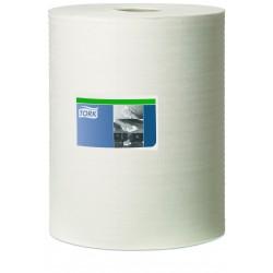 Tork 570137, Heavy-Duty průmyslová čistící utěrka bílá na roli, 160 útržků, W1 W2 W3