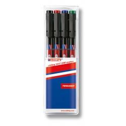Permanentní popisovač EDDING 140S, stopa 0,3 mm, sada 4 barev