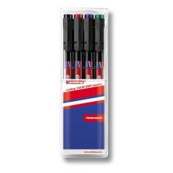 Permanentní popisovač EDDING 141F OHP, stopa 0,6 mm, sada 4 barev