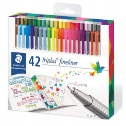 STAEDTLER triplus fineliner 334, sada 42 ks Brilliant colours