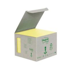 3M Post-it samolepící recyklovaný bloček 654-1B, rozměr 76x76 mm, 6x100 lístků