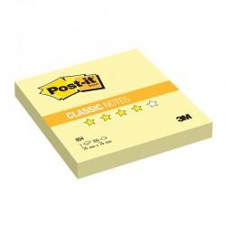 3M Post-it® bloček 654Y, rozměr 76x76 mm, 100 lístků