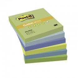 3M Post-it samolepící bloček 654-MTDR, rozměr 76x76 mm, 6x100 lístků