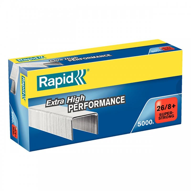 Drátky Rapid Super Strong 26/8+, obsah 5000 ks