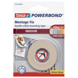 Tesa Powerbond 55750, Montážní oboustranná pěnová páska pro exteriér bílá, 19mm x 1,5m