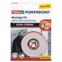 Tesa Powerbond 55740, Montážní oboustranná pěnová páska pro interier bílá, 19mm x 1,5m