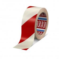 TESA Značkovací - výstražná PVC páska červeno-bílá, 50x33