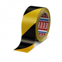 TESA značkovací - výstražná PVC páska žluto-černá, 50x33