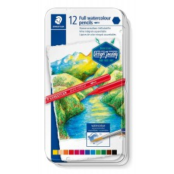 Staedtler Aquarell Ergo Soft, sada pastelek akvarelových, 36 barev, kovová krabička
