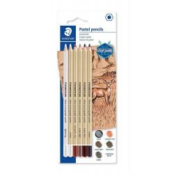 Staedtler Watercolour pencils, sada pastelek vodových a akvarelových, 12 barev, kovová krabička