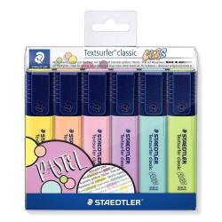 Staedtler zvýrazňovač Textsurfer Pastel 364 sada 10 ks, klínový hrot 1-5 mm