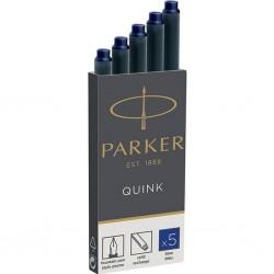 Parker bombičky do plnících per modré nepermanentní, sada 5 ks