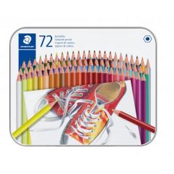 Staedtler 175, šestihranné pastelky v kovové kazetě, 36 barev