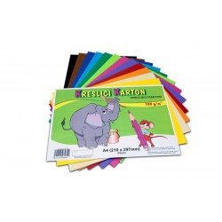 Kreslicí karton barevný formát A4, 180g, 10 listů, mix barev