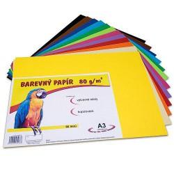 Náčrtkový papír barevný, formát A4, 180g, 12x5 listů, mix barev